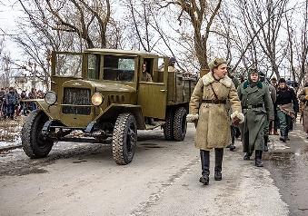По Волгограду прошла колонна немецких военнопленных
