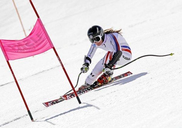 На Красной Поляне в Сочи проводится Чемпионат России по горнолыжному спорту