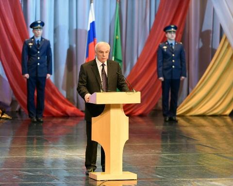В Адыгее прошло торжественное заседание, посвященное Дню защитника Отечества