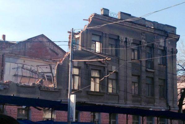 В Ростове снесли старинное здание студии кинохроники