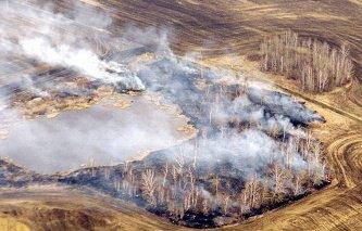 Пожар в Астраханской области остановлен