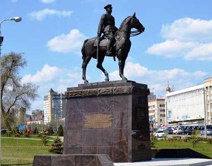 В Волгограде открыт памятник маршалу Рокоссовскому