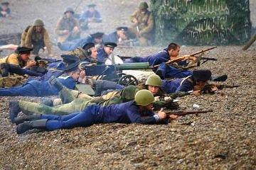 В Анапе впервые состоялась реконструкция высадки десанта