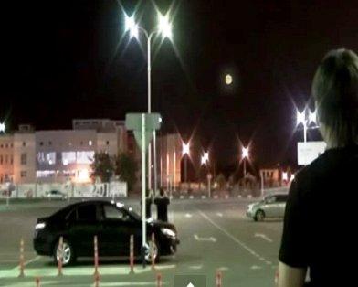 Краснодарские автомобилисты засняли огненное