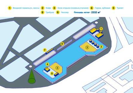 В Волгограде к новому году откроют открытый каток с искусственным покрытием