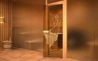 Преимущества стеклянных дверей для бани