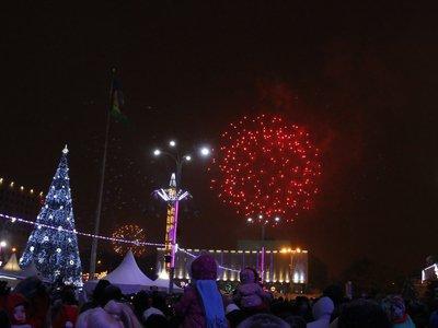 20 тыс. человек встретили Новый год на Театральной площади Краснодара