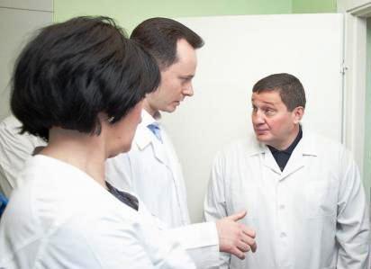 А. Бочаров провел внезапную проверку больницы скорой помощи №7