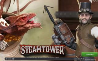 Назад во времени в слоте Steam Tower