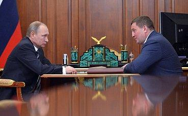 В Кремле состоялась рабочая встреча Президента РФ с губернатором Волгоградской области