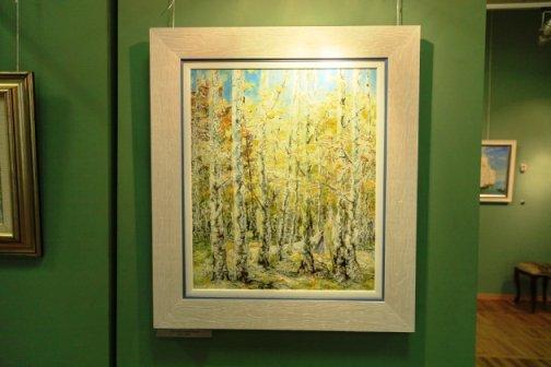 Н. Сафронов подарил Ростову три своих картины