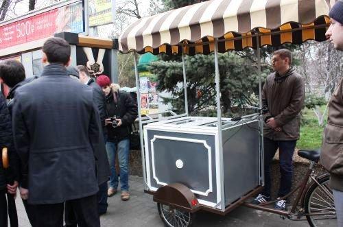 В Ростове презентовали велотележки для передвижной торговли