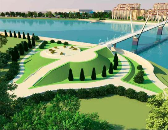 Новый пешеходный мост соединит парк Победы Краснодара и аул Новая Адыгея