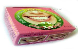 Тайская зубная паста - детали применения