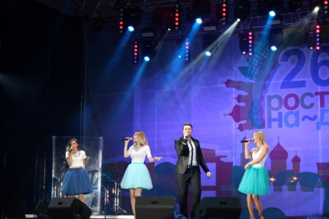 День города Ростова на Театральную площадь пришли отметить 100 тыс. человек