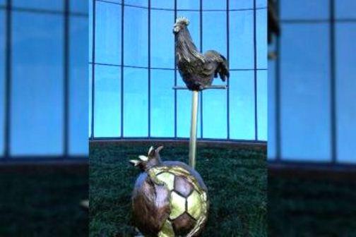 Петух, охраняющий футбольный мяч, появился в Сочи