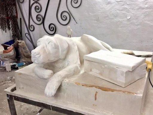 В Астрахани установят статую-копилку бездомному животному