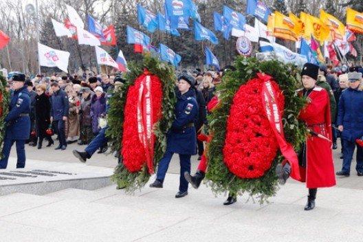 В Краснодаре отметили 74-ую годовщину освобождения от фашистов