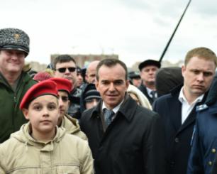 Губернатор Кубани В. Кондратьев вчера побывал в КВВАУЛ