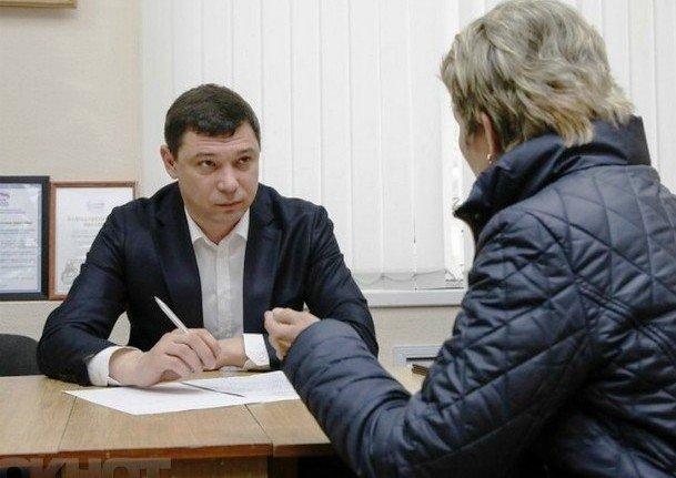 Мэр Краснодара Е. Первышов провел выездной прием граждан
