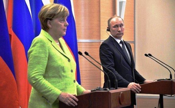 В. Путин и А. Меркель встретились в Сочи