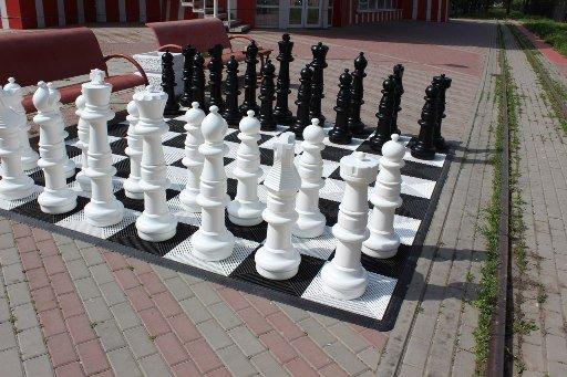 В парке Ростова появилась шахматная доска с метровыми шахматами