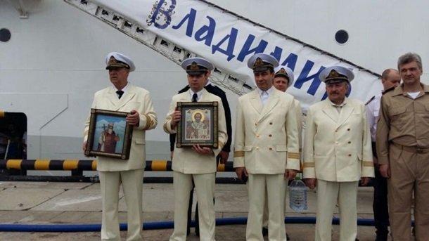 В Сочи торжественно освятили круизный лайнер