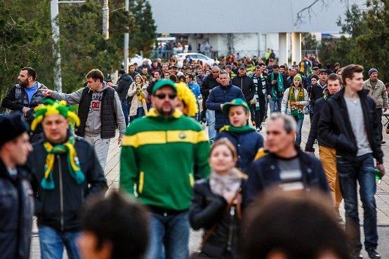 Болельщики краснодарского футбольного клуба