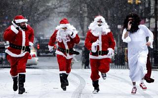 Две тысячи жителей Ростова поучаствовали в новогоднем забеге