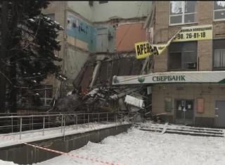 Сервисно-офисное здание рухнуло в Новочеркасске