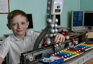 Уникального робота создал 9-летний изобретатель из Краснодара