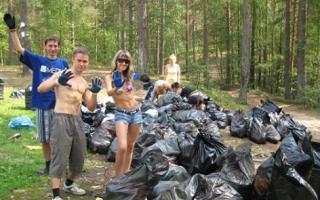 На хуторе Веселом волонтеры устроили