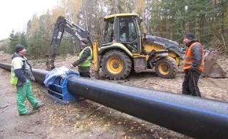 В селе Садовом идет реконструкция водовода