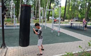 В Элисте на новой воркаут-площадке вновь испортили спортивный инвентарь