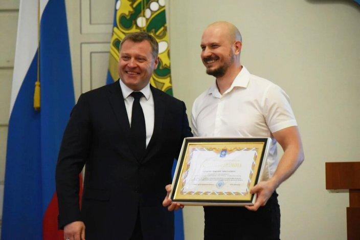 И. Бабушкин чествовал астраханских журналистов