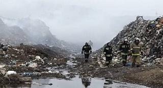 В Майкопе в результате нарушение технологического процесса захоронения ТБО случился пожар
