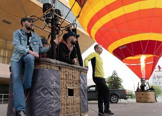 В небе над Волгоградом пролетели воздушные шары