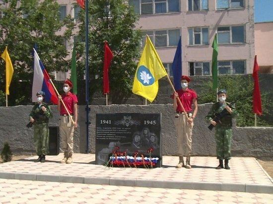 В Элисте открыли сквер памяти танкистов