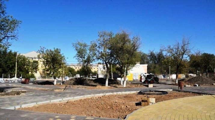 Реконструкция парка в Жилгородке подходит к концу