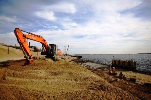 В Волгограде завершается строительство берегоукрепительных сооружений