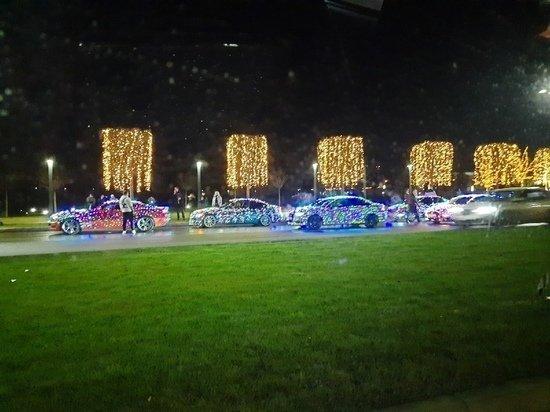 Рождественский парад провели автомобилисты в Краснодаре